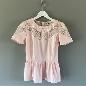 Mustard Seed Short Sleeve Blouse Pink Sz Small